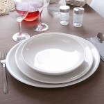 Assiette plate porcelaine blanche - D 28 cm - Siviglia