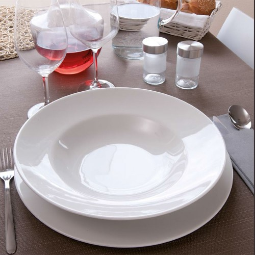 Assiette à pâtes porcelaine blanche - D 30 cm - Napoli