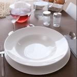 Lot de 6 assiettes à pâtes porcelaine blanche - D 30 cm - Napoli