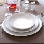 Plat ovale porcelaine blanche - D 34 cm - Siviglia