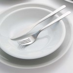 Lot de 6 assiette plate porcelaine blanche - D 27 cm - Roma