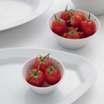 Saladier conique porcelaine blanche - D 20 cm - Napoli