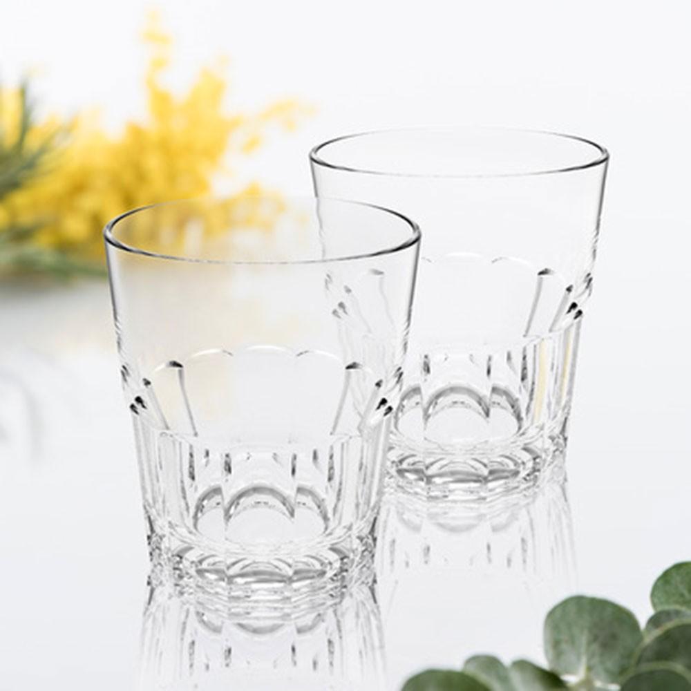 Lot de 6 verres à eau empilable Nervion 27 cL