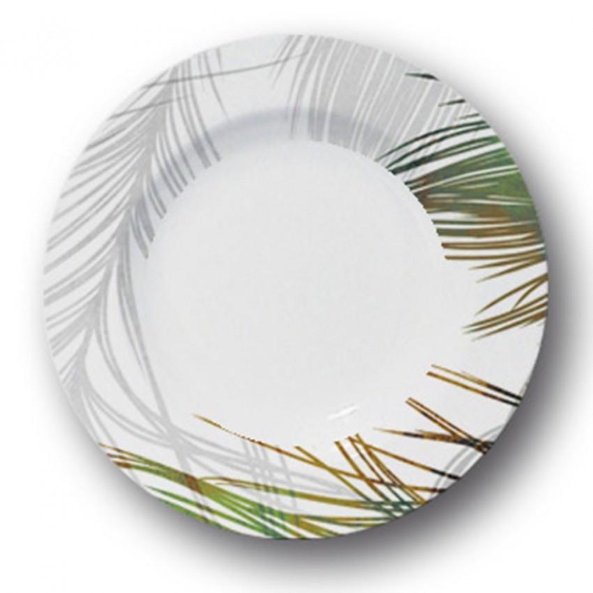 Lot 6 assiettes creuses Silky - D 23 cm