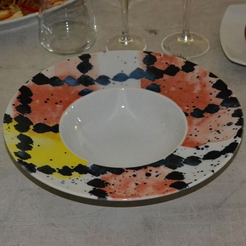 Lot de 6 assiettes à risotto Salame - D 27,5 cm - Napoli