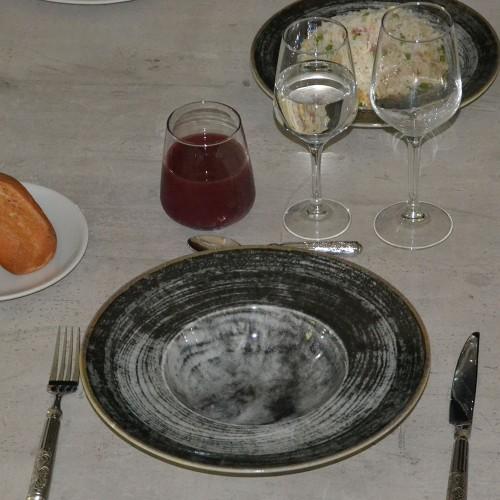 Assiette à risotto Black Round - D 27,5 cm - Napoli