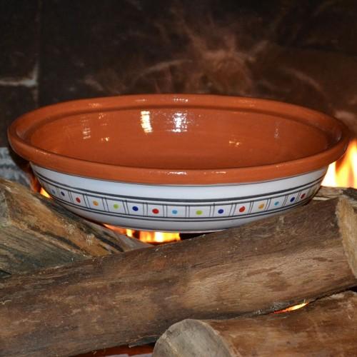 Plat de cuisson décoré - D 31 cm