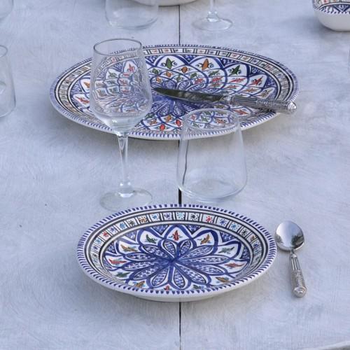 Assiette à entrée ou dessert Bakir bleu - D 20 cm