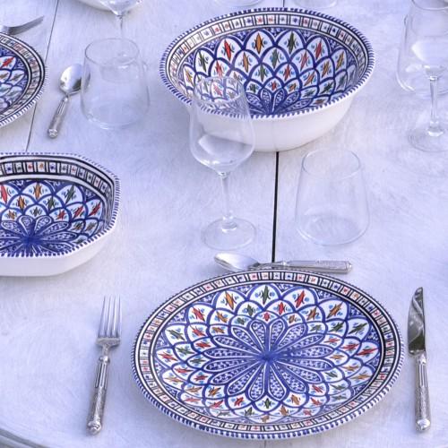 Assiette plate Bakir bleu - D 24 cm