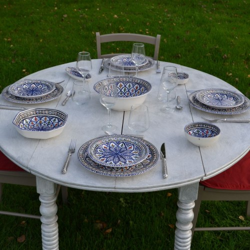 Service de table Bakir bleu - 8 pers