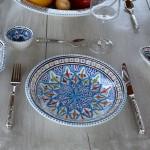 Service à couscous assiettes creuses Bakir turquoise - 6 pere