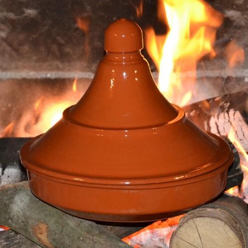 Tajine de cuisson en pâte à feu - D 25 cm