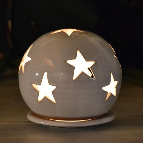 Photophore boule Blanc - Grand Modèle