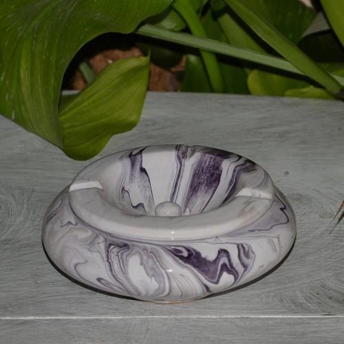Cendrier marocain Anis marbré violet et blanc Moyen Modèle