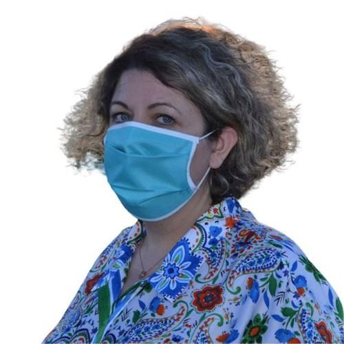 Masque Grand Public filtration supérieur à 90% Bleu et Marron - Lot de 2