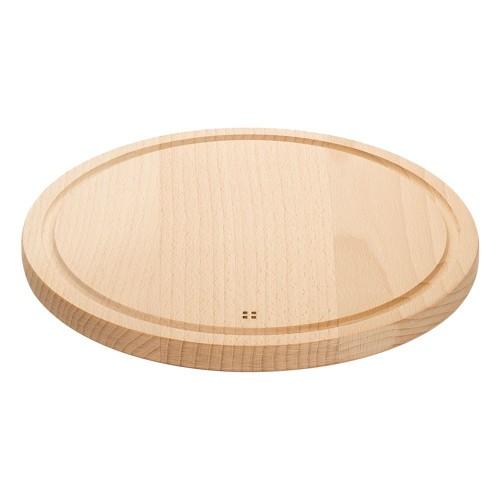 Planche à découper ronde en bois de 28 cm