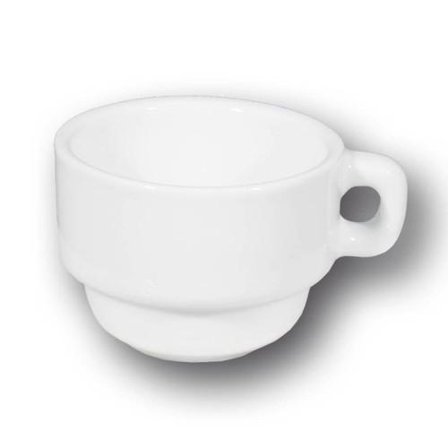 Tasse et sous tasse en porcelaine blanche - Roma