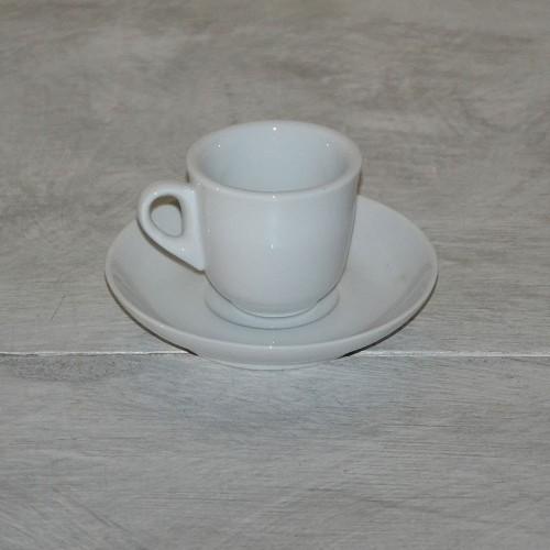 Tasse à expresso et sa soucoupe Clara 1 personne porcelaine blanche