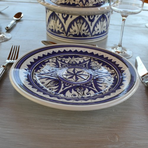 Assiette plate Nejma bleu - D 28 cm