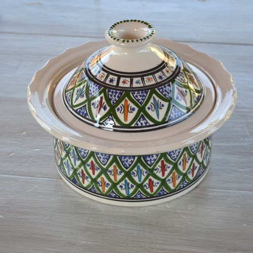 Cocotte Querouana Bakir vert - D 20 cm