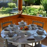 Service à couscous assiettes Tebsis Bakir vert - 6 pers
