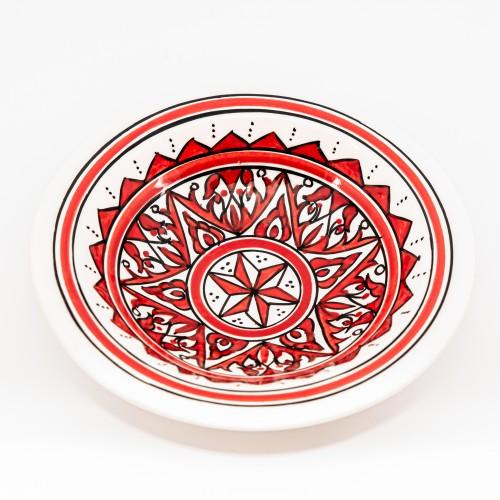 Assiette Tebsi Nejma rouge - D 23 cm