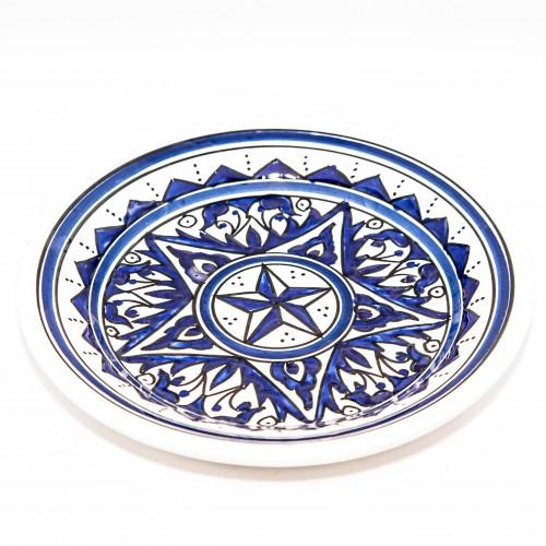 Assiette à entrée ou dessert Nejma bleu - D 20 cm