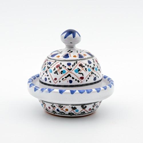 Mini tajine Multifonction - Marrakech Blanc - D 8 cm