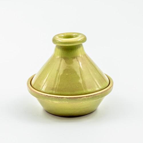 Mini tajine Uni vert clair - D 9 cm