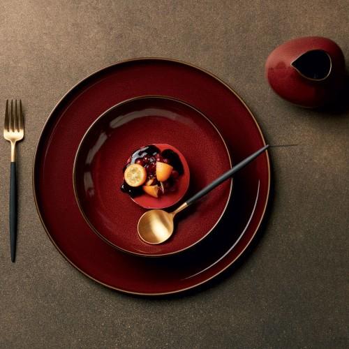 Assiette plate - D 26.5 cm Rouge - Kolibri Rusty Red