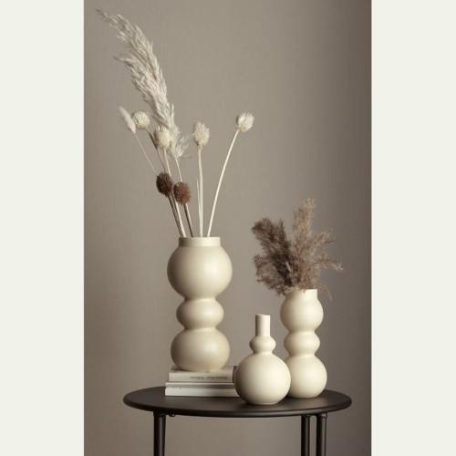 Vase Como Crème 3 Boules- H 23.5 cm