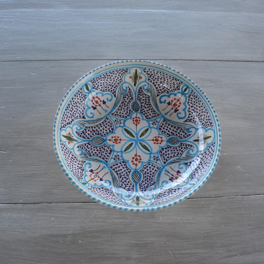 Jatte Marocain turquoise - D 30 cm