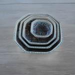 Plat octogonal Marocain turquoise - L 20 cm