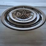 Assiette Tebsi Marocain noir - D 23 cm