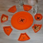 Service à apéritif Tatoué orange