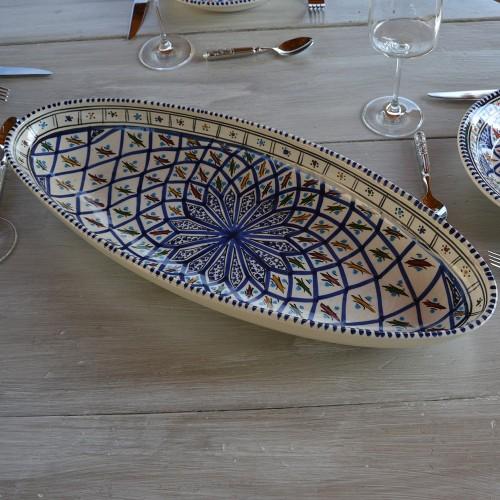 Plat ovale Bakir bleu - L 24 cm
