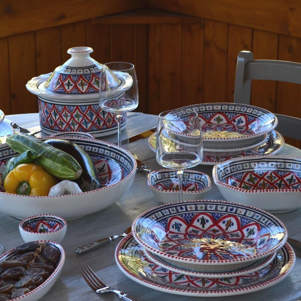 Service /à couscous assiettes creuses Bakir Royal 12 pers