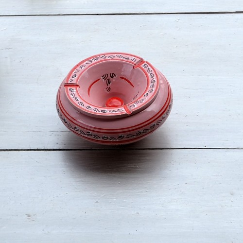 Cendrier anti fumée Tatoué rose - Grand modèle