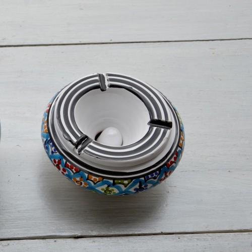 Cendrier anti fumée Bakir turquoise - Moyen modèle