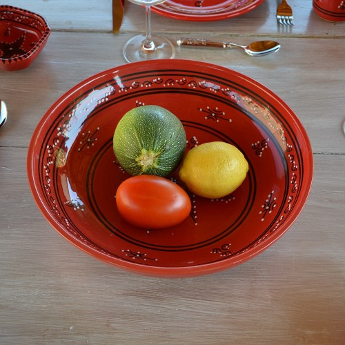 Jatte Tatoué rouge - D 26 cm