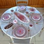 Lot de 6 assiettes à entrée ou dessert Bakir rouge - D 20 cm