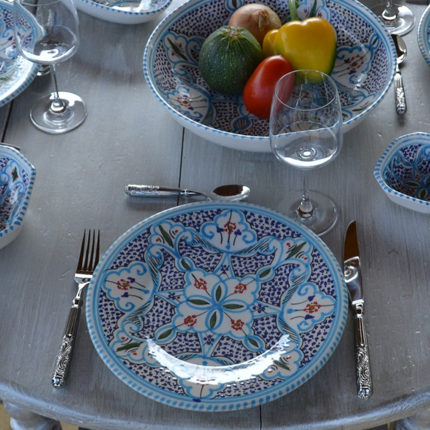 Service de table Marocain turquoise - 12 pers