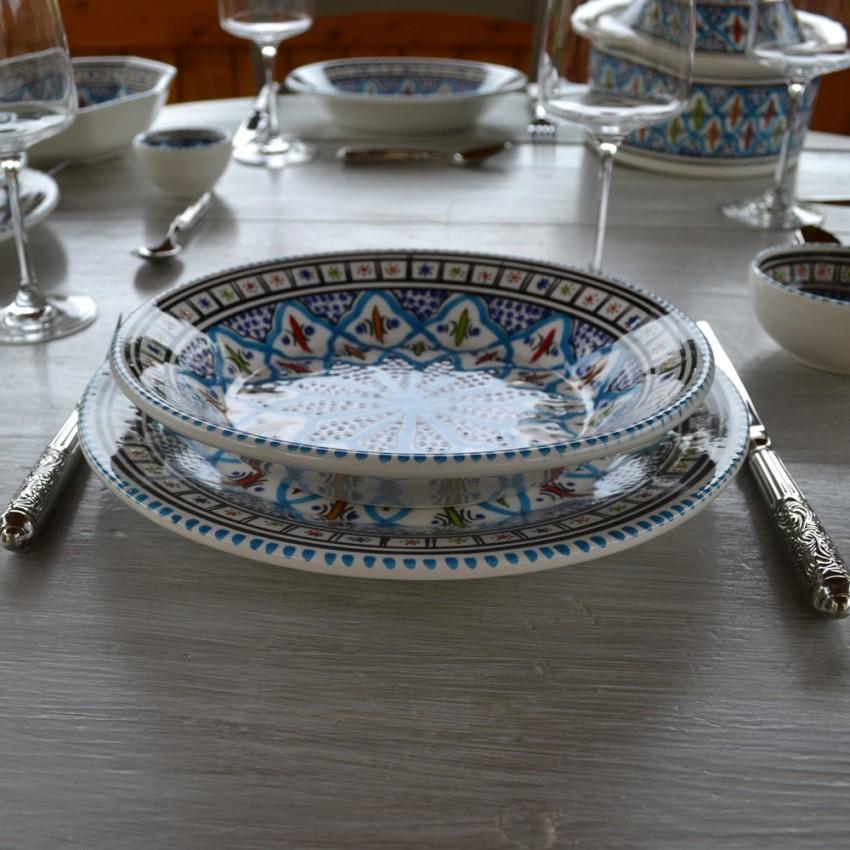 Service de table Bakir turquoise - 8 pers