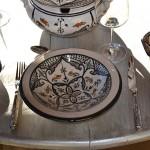 Lot de 6 Assiettes Tebsi Marocain noir - D 23 cm