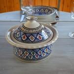 Service à couscous assiettes creuses Bakir bleu - 12 pers