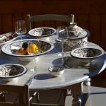 Service à couscous assiettes Tebsi Marocain noir - 12 pers
