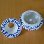 Lot de 2 mini cendriers Marrakech Blanc et Orange
