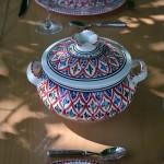 Service à soupe Bakir rouge - 6 pers
