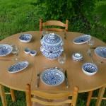 Service couscoussier assiettes creuses  Jileni bleu - 6 pers