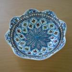 Jatte fleur Jileni turquoise D 30 cm
